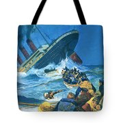 Sinking Of The Titanic Tote Bag