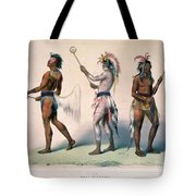 Sioux Lacrosse Players Tote Bag