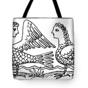 Sirens, Mythological Creature Tote Bag