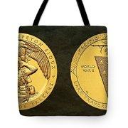 Sisseton Wahpeton Oyate Sioux Tribe Code Talkers Bronze Medal Art Tote Bag