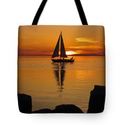 Sister Bay Sunset Sail 2 Tote Bag