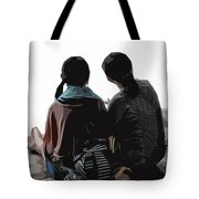 Sisters At The Zen Garden Tote Bag