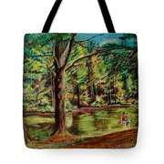 Sisters At Wason Pond Tote Bag by Sean Connolly