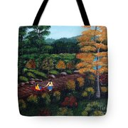 Sister's Autumn Stroll Tote Bag