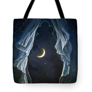 Sisters In The Moonlight Tote Bag
