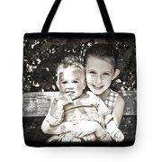 Sisters In Sepia Tote Bag