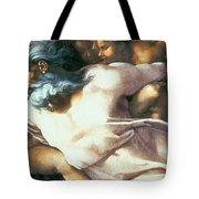 Sistine Chapel Ceiling Creation Of Adam Tote Bag by Michelangelo Buonarroti
