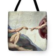 Sistine Chapel Ceiling Tote Bag by Michelangelo Buonarroti