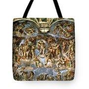 Sistine Chapel The Last Judgement, 1538-41 Fresco Pre-restoration Tote Bag