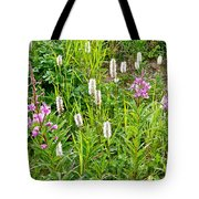 Sitka Burnet And Tall Fireweed In Katmai National Preserve-ak Tote Bag