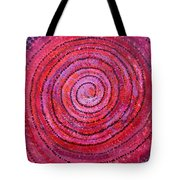 Sits In The Middle And Knows Original Painting Tote Bag