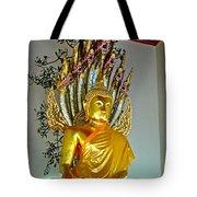 Sitting Buddha In Wat Po In Bangkok-thailand Tote Bag