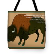 Sitting Bull Buffalo Tote Bag