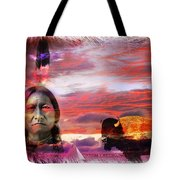Sitting Bull Tote Bag by Mal Bray