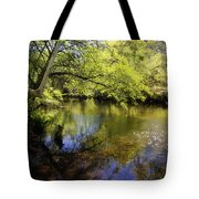 Sitting By The Creek  Tote Bag
