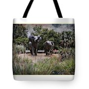 Sitting By The Elephants Tote Bag
