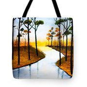 Sitting By The Lake Tote Bag