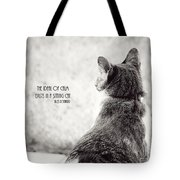 Sitting Cat Tote Bag