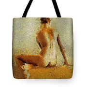 Sitting Nude II Tote Bag
