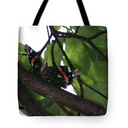 Sitting On A Branch Tote Bag