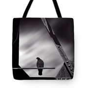 Sitting On A Stick Tote Bag