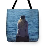 Sitting On Suitcase Tote Bag by Joana Kruse