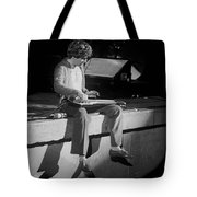 Sitting On The Front Of The Stage 1977 Tote Bag
