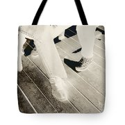Sitting Together-duotone Tote Bag