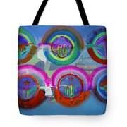 Six American Spring Icons Tote Bag