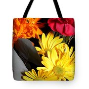 Six Dasies And A Carnation Tote Bag