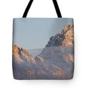 Six Peaks Of The Teton Mountain Range Tote Bag