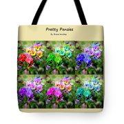 Six Pretty Pansies Tote Bag