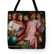 Six Tuscan Poets Tote Bag by Giorgio Vasari