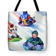 Sizzling Saucers Tote Bag