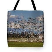Skagit Snow Geese Liftoff Tote Bag