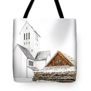 Skalholt Church Tote Bag