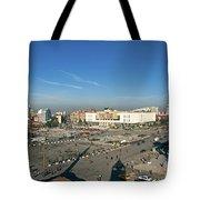Skanderberg Square In Tirana Albania Tote Bag