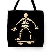Skateboard Skeleton Tote Bag