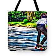 Skateboarder In Central Park Tote Bag