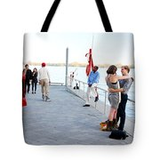 Skater And Couples Tote Bag