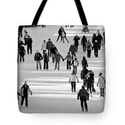 Skating In Black And White Tote Bag