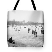 Skating In Central Park Tote Bag by Anonymous