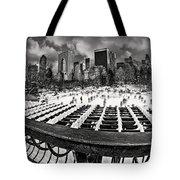 Skating In Central Park Tote Bag