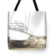 Skeleton Boat Tote Bag