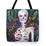Skeleton With One Arm Tote Bag