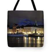 Skeppsbron At Night Tote Bag