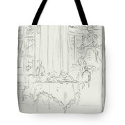 Sketch Of A Formal Dining Room Tote Bag