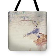 Sketch Of A Young Woman In A Boat Tote Bag