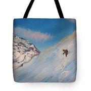 Ski Alaska Heli Ski Tote Bag