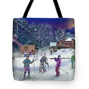 Ski Area Campton Mountain Tote Bag